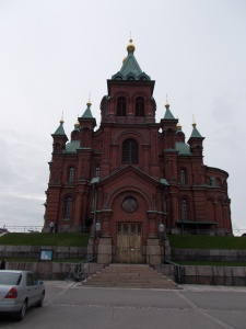 In the shadows of Uspenski Cathedral