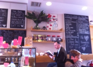 Reading at the counter